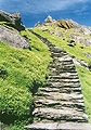 Steps leading to the monastic settlement