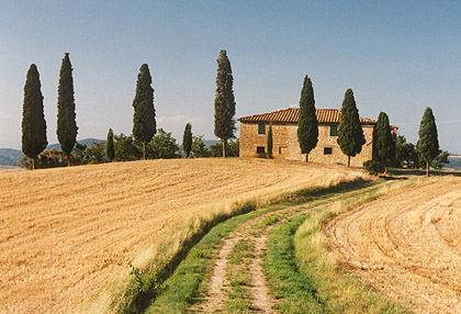 Farmhouse near Pienza, Tuscany.